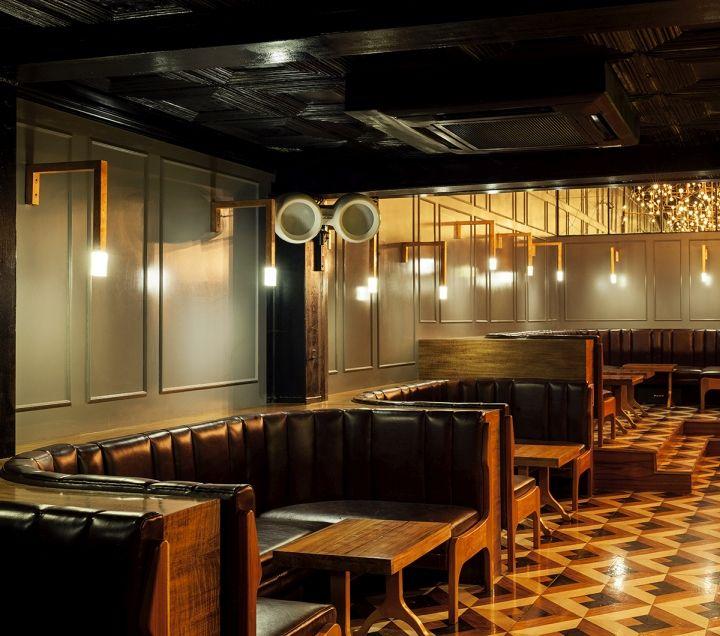 Retro Industrial Bar Interiors : Main Room Bar