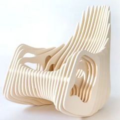 Ergonomic Chair Comfortable Ivory Satin Covers Side-stacked Seating : Mamulengo Rocking