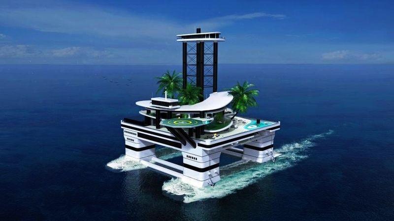 Submarine Carried Islands Man Made Island