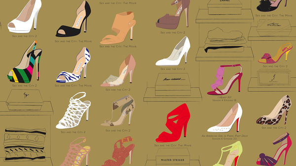 TV Show Footwear Illustrations  Many Shoes of Carrie Bradshaw