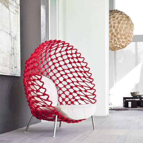 Mesh EggShaped Furniture  mesh chair