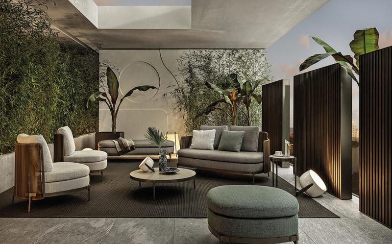 slick mid century outdoor furniture