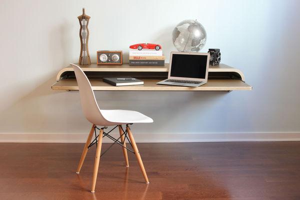 WallMounted Workstations  Minimal Float Wall Desk