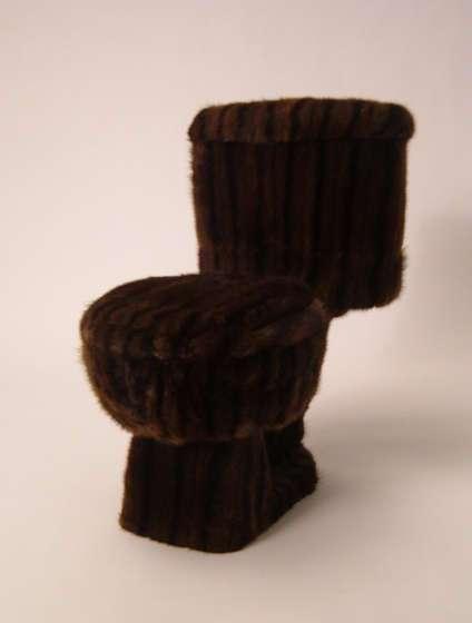 Fancy Fluffy Toilets  Mink Fur Toilet