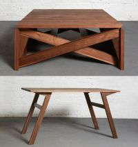 Convertible Wooden Furniture : MK1 Transforming Coffee Table