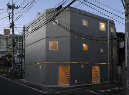 Cinder Block Buildings MM Apartment Building in Tokyo by
