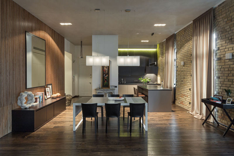 Industrial Urban Abodes  modern loft apartment
