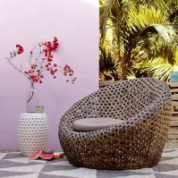 Cocooned Basket Weave Seating : Montauk Nest Chair