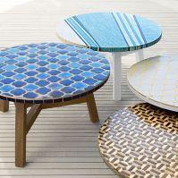 Elegantly Ornate Outdoor Furnishings : Mosaic Tiled Coffee ...