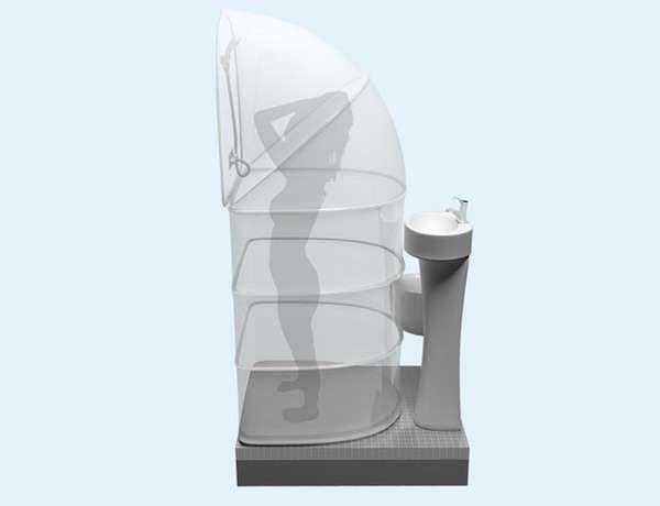 Flexible Shower Concepts  My Rups Folding Shower