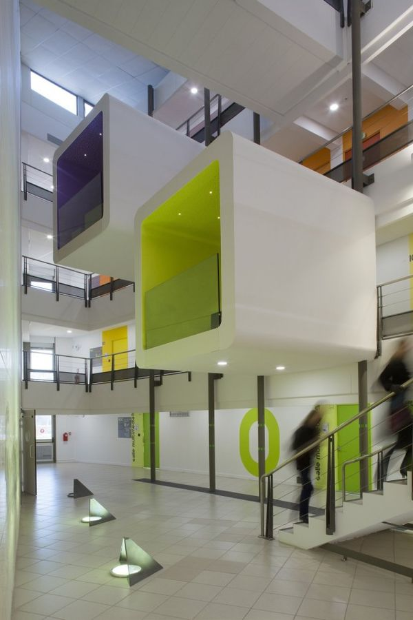 Hanging Box Interior Design Nbj Architectes