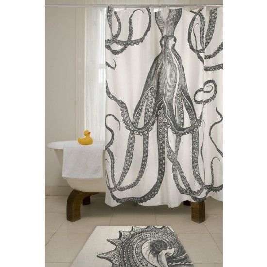 tentacled sea monster curtains