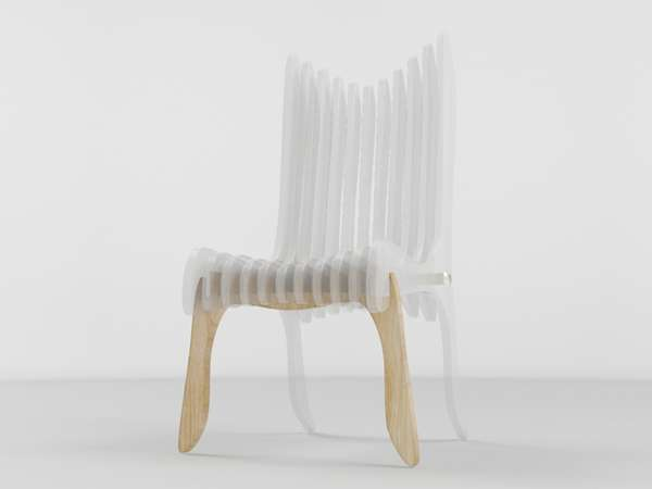 Clear Chairs Oil Monkeys Curene Seating Design Combines