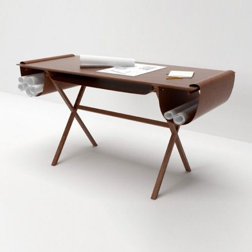 Leatherpocketed Workstations  Oscar Architecture Desk
