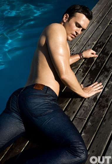 Male Poolside PinUps  Out Magazine November Issue