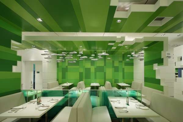 GreenHued Eatery Interiors  P S Restaurant