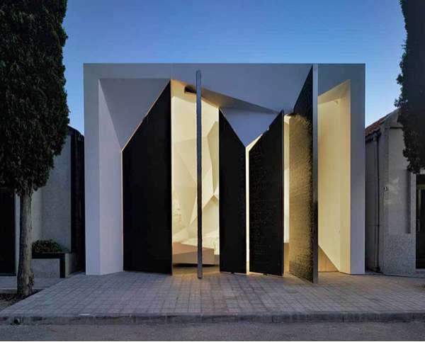 Modern Faceted Mausoleums  Panteon Nube