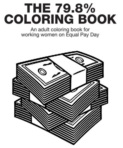 Wage Gap Coloring Books : pay inequality