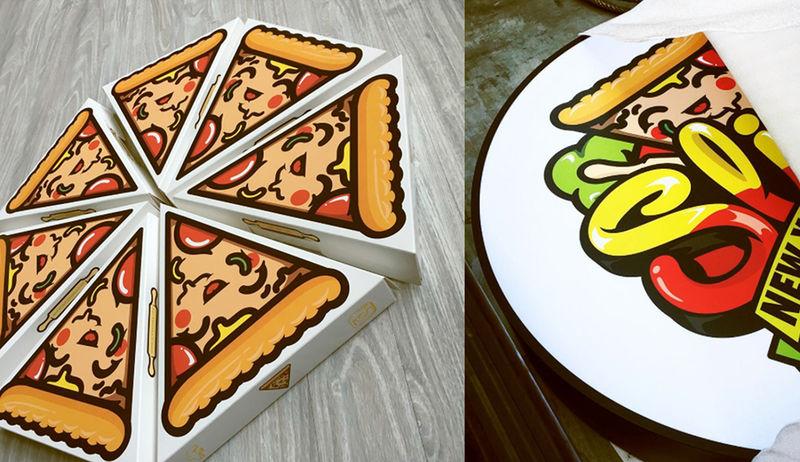 Cartoonish Pizza Boxes Pizza Box Design