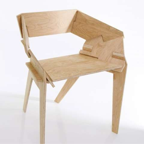 SnapTogether Seating  Plywood Chair