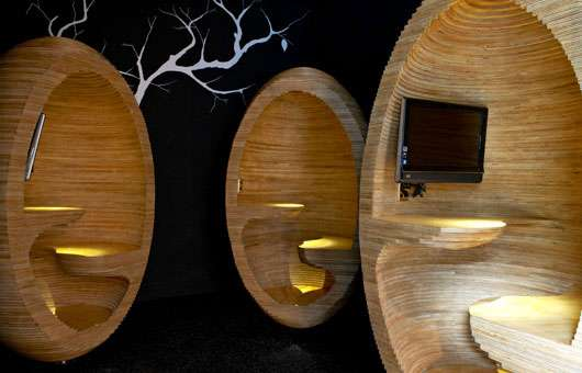 egg chair pod plastic rail manufacturers wooden workspaces : plywood chairs