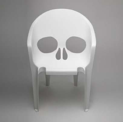 skull chair home depot pool lounge chairs deathly deck furniture