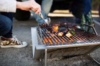 Folding Food-Grilling Fire Pits : portable steel fire pit