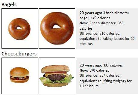 As Food Size Doubled So Did Waistlines 2 Decade Portion