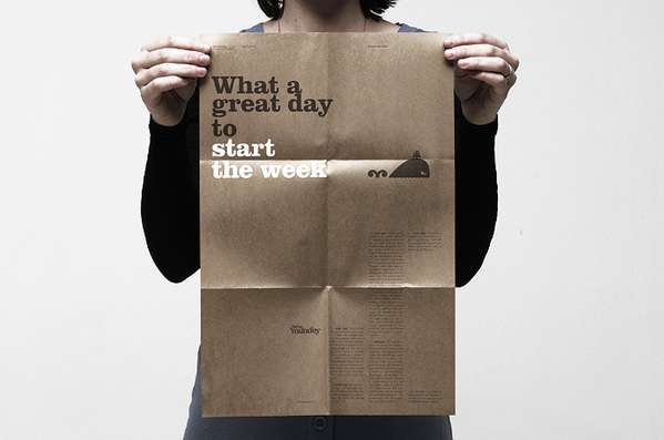 Monday Rebranding What a Great Day to Start the Week Poster Uses Positivity