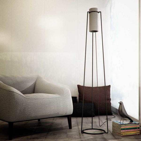 Cylindrical Concrete Lighting  Poua Floor Lamp