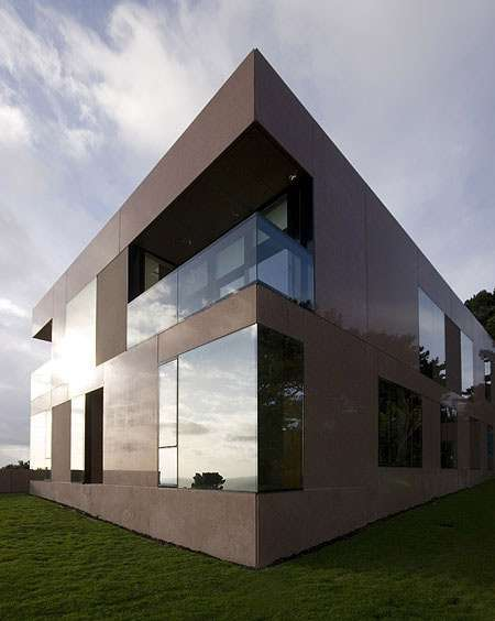 Synthesized Hillside Homes The Voluminous Precast House