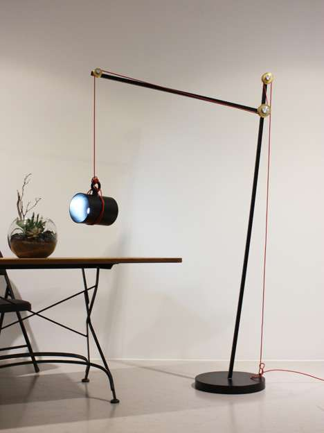 Lever System Lighting  Pulley Floor Lamp