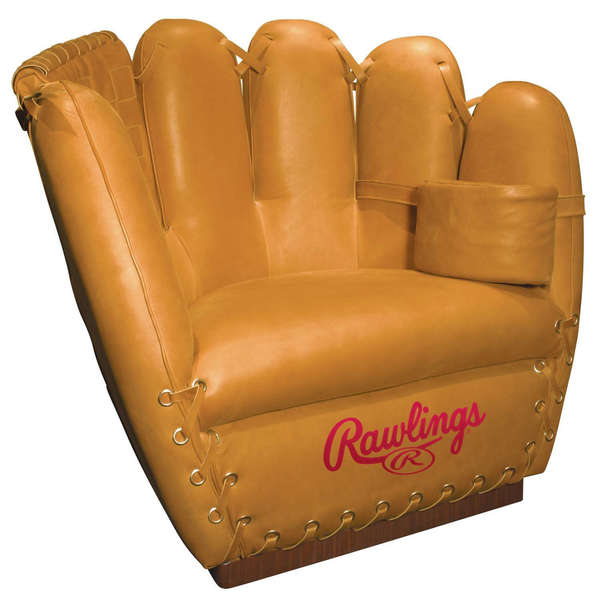 Oversized Catcher Chairs  Rawlings Baseball Glove Chair