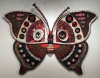 Recycled Metal Wall Art: Michelle Stitzlein's Moth Collection