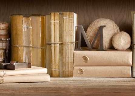 Decorative Book Antiques  restoration hardware antique coverless book bundles