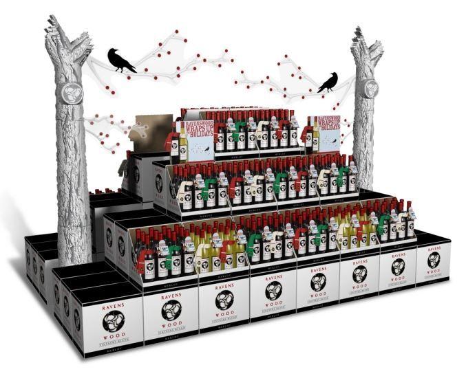 Spooky Wine Kiosks Retail Wine Display