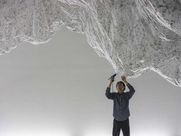 Ethereal Art Installations  reverse of volume rg by