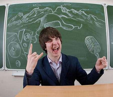 Chalkboard Yearbook Portraits  Russian High School Students