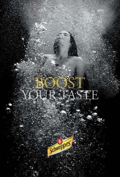 Bubbly Underwater Ads  Schweppes campaign