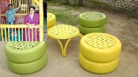 Recycled Tire Furniture : scrap tires