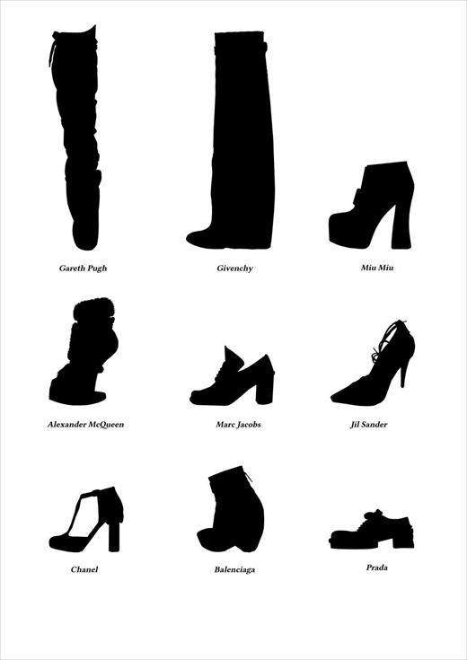Chic Shoe Silhouettes : shoe fashion silhouettes anothers
