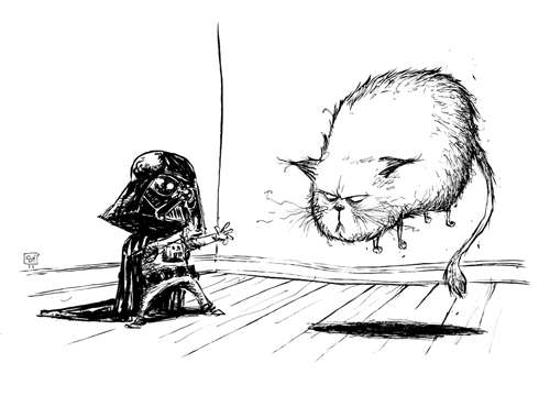 Sketchy Sci-Fi Illustrations : Skottie Young