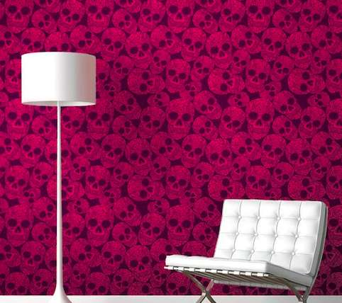 Beautiful BoneInspired Walls  Skull Wallpaper