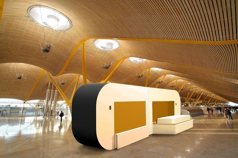Airport Layover Sleep Pods  sleep pods