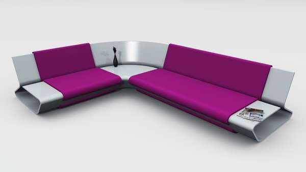 luxury leather living room sets moroccan inspired home decor sleek shelved seating : slim sofa by stephane perruchon