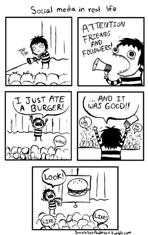 Satirically Honest Internet Cartoons : social media in