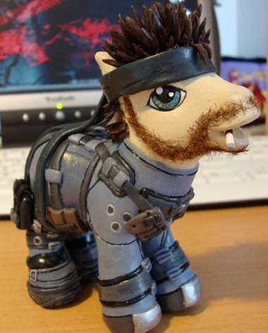 Cute Toy Transformers  Solid Snake Little Pony
