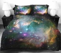 Celestial Galaxy Bedsheets : Space Bedding