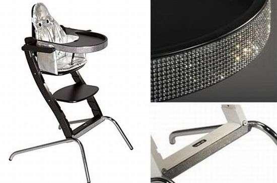 Swarovski High Chairs Icansit Blinged Baby Seat