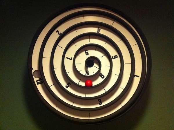 Circular Maze Clocks  Spiral Clock